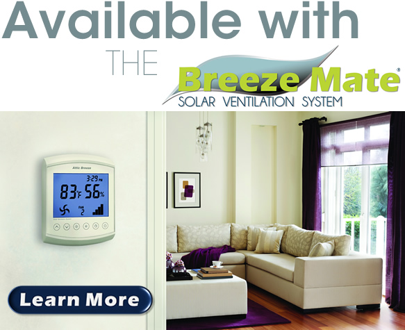 Breeze Mate solar ventilation system controller for Attic Breeze solar attic fans