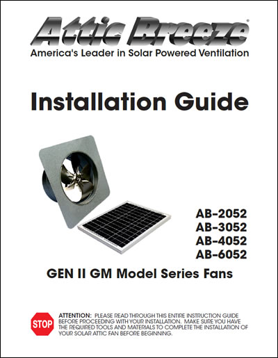 Attic Breeze Generation 2 GM model series installation guide - English