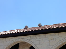 CMA model fans installed on spanish tile roof (custom finish)